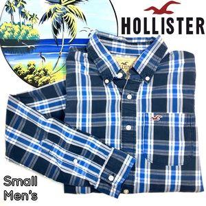 Hollister plaid long sleeve button down men's top